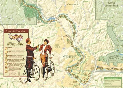 The Hockhocking Adena Bikeway Map