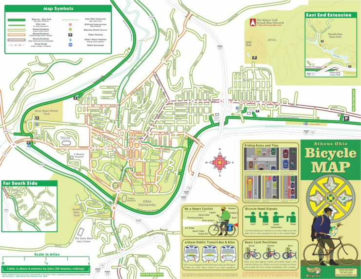 Athens Ohio Commuter Map