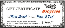 Cycle Path Gift Certificate